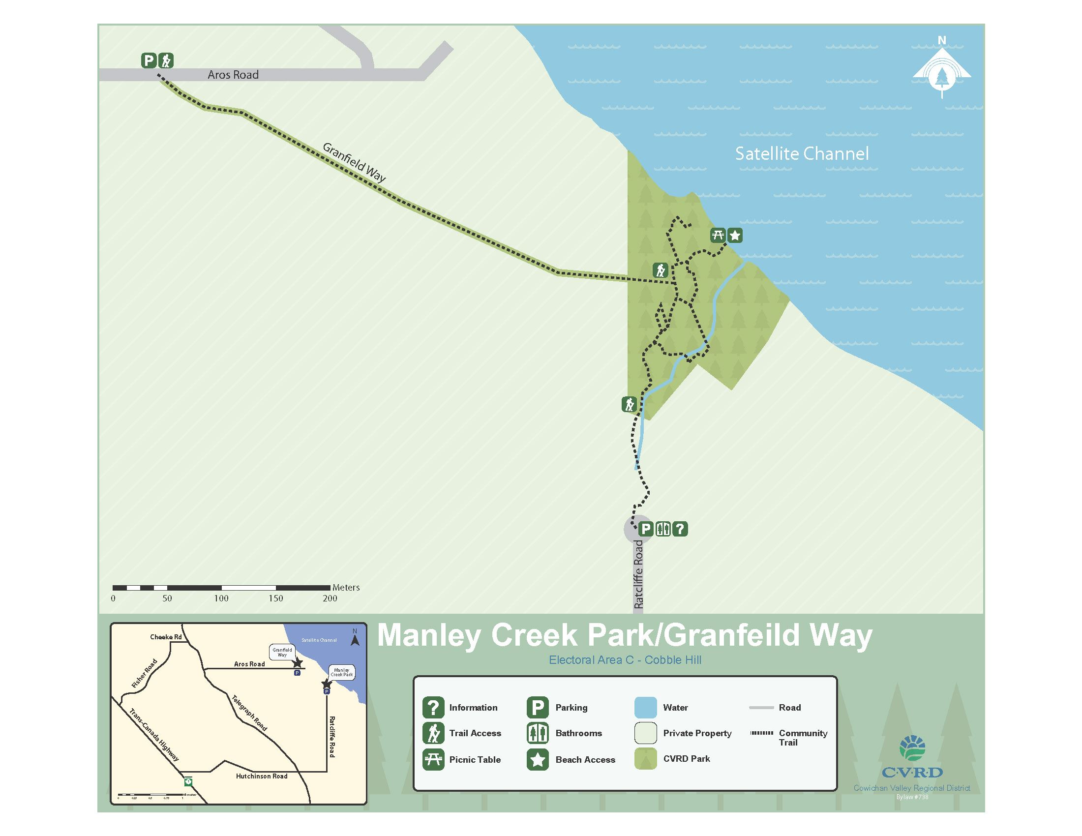 Manley Creek Park and Granfield Way map