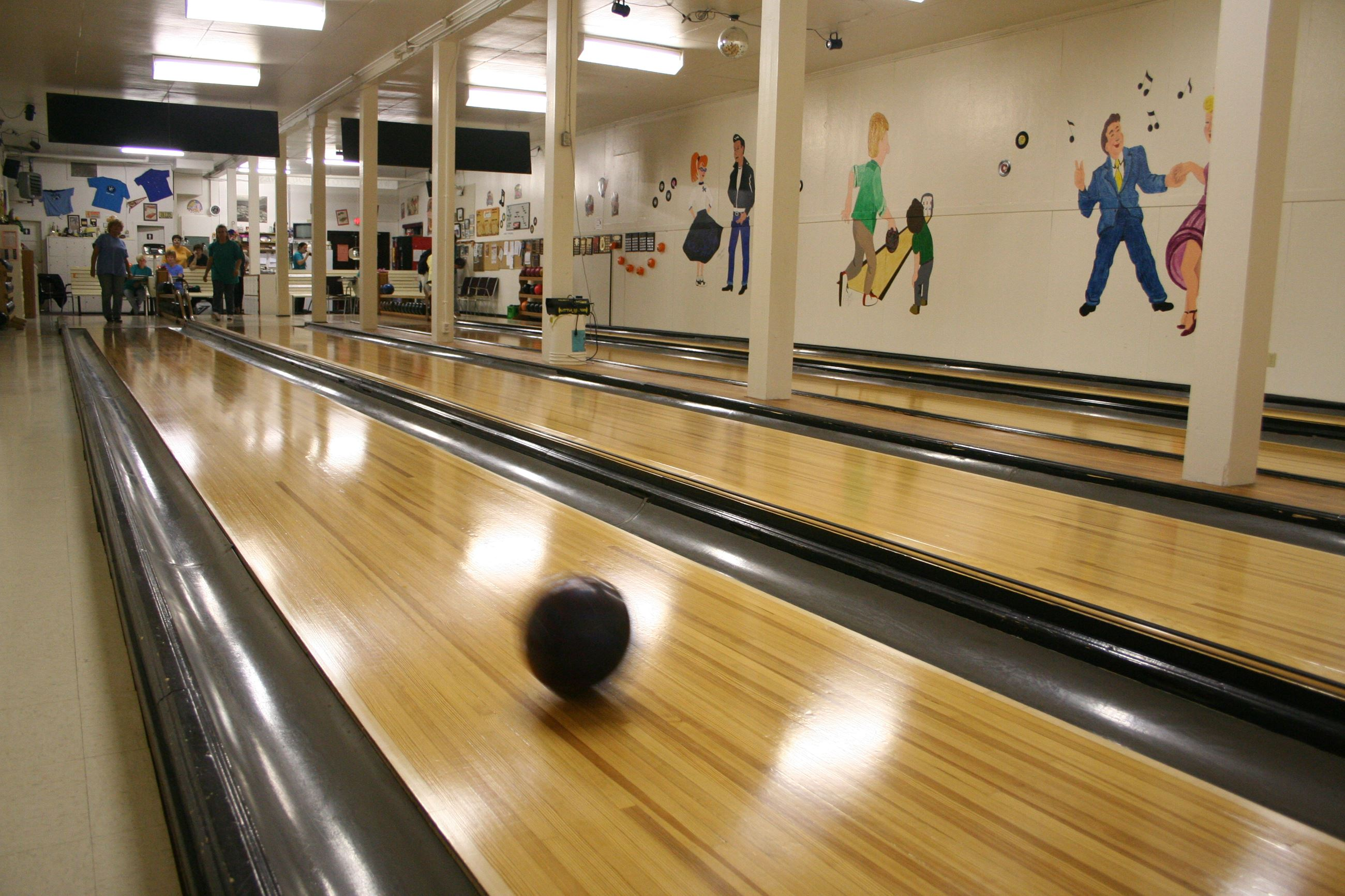 bowling, Youbou Lanes, 10-pin ball, lane