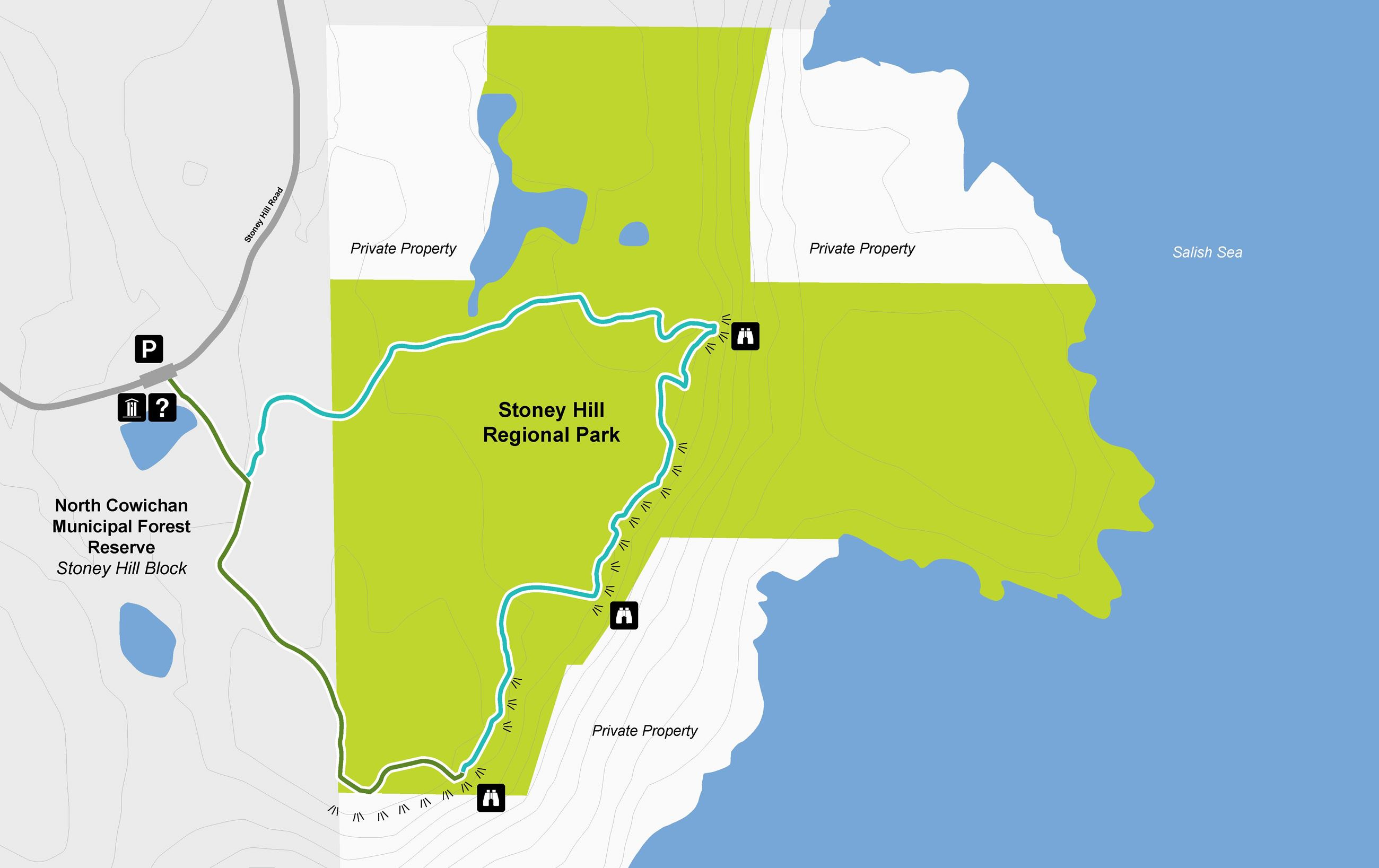 Stoney Hill Hiking Trail Map